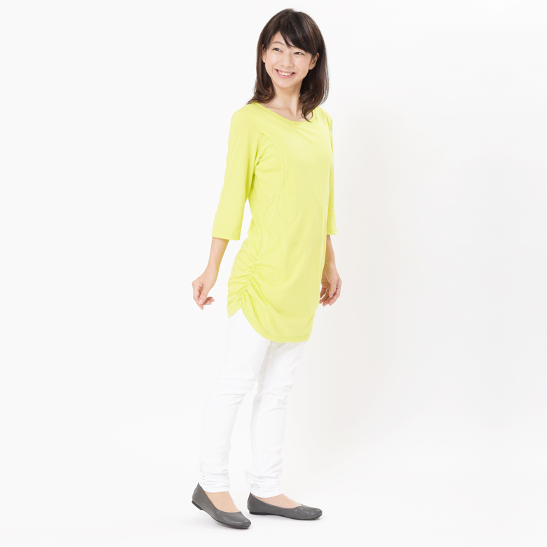 授乳服CARINO-DT やわらか長め丈モデル写真1