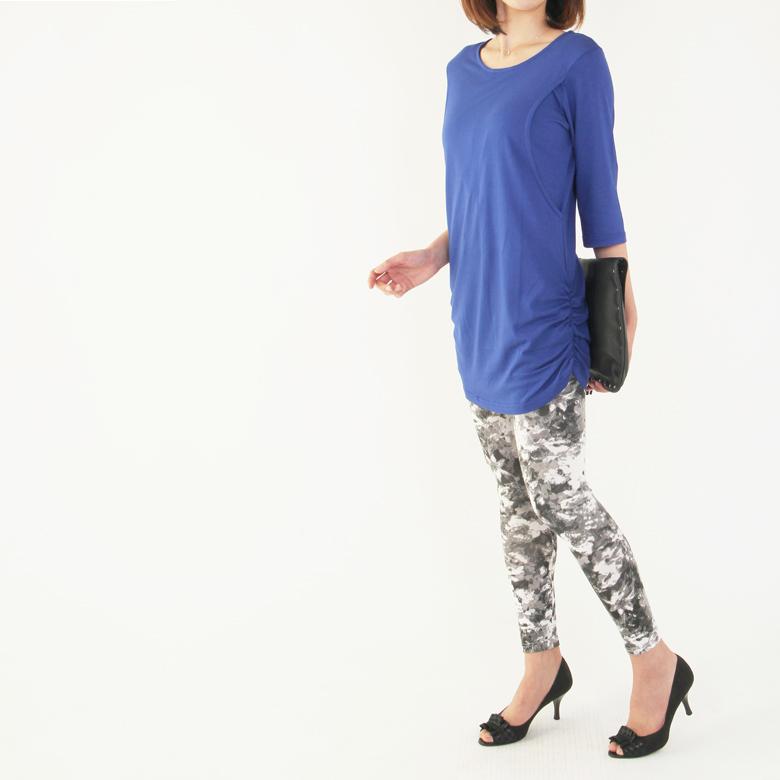 授乳服CARINO-DT やわらか長め丈モデル写真2