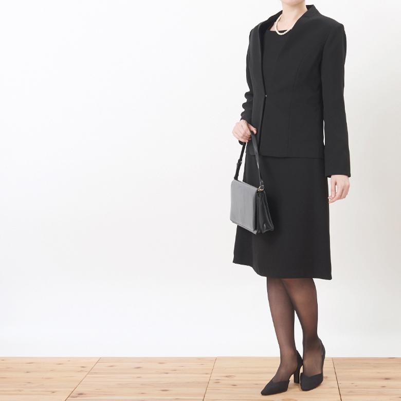 ブラックフォーマルジャケットモデル写真2