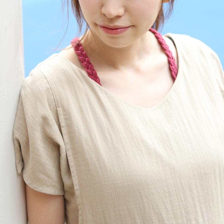 授乳インナーみつあみインナーモデル写真2