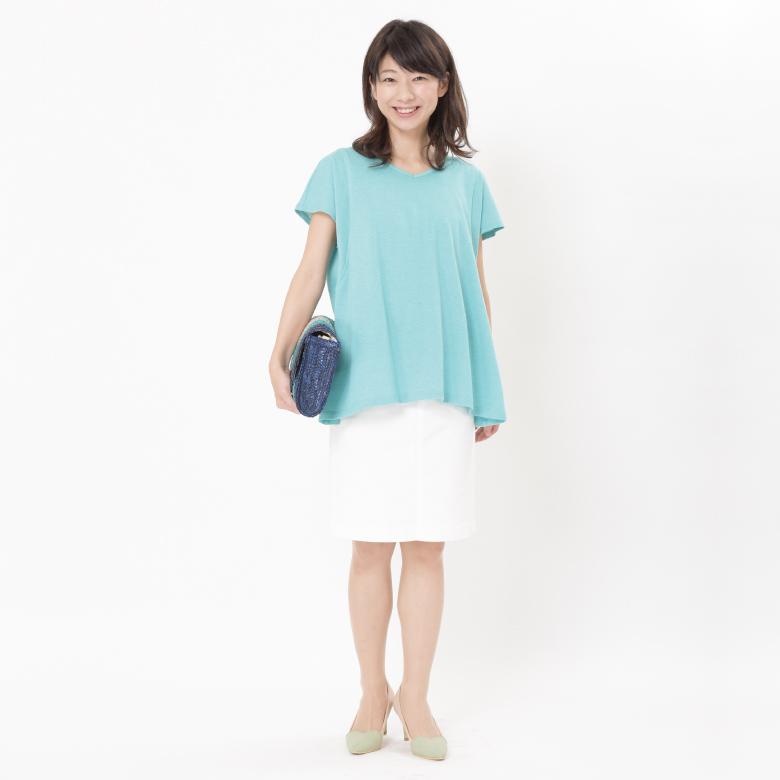 授乳服オーガニックシンプルT写真1