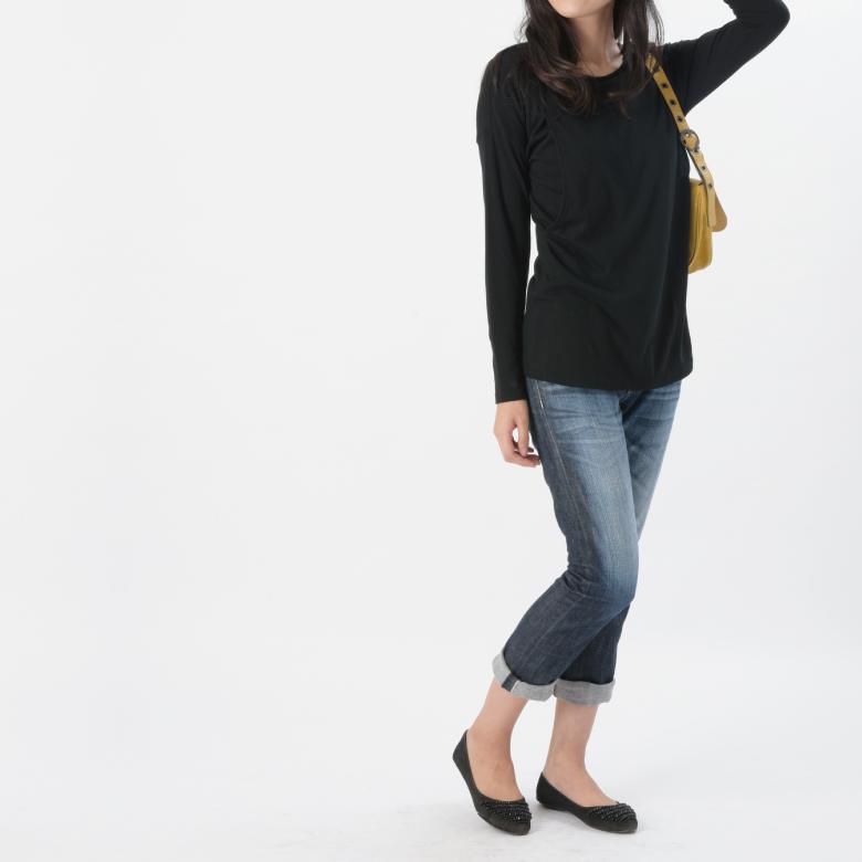 授乳服CARINO-DT ロングスリーブモデル写真2