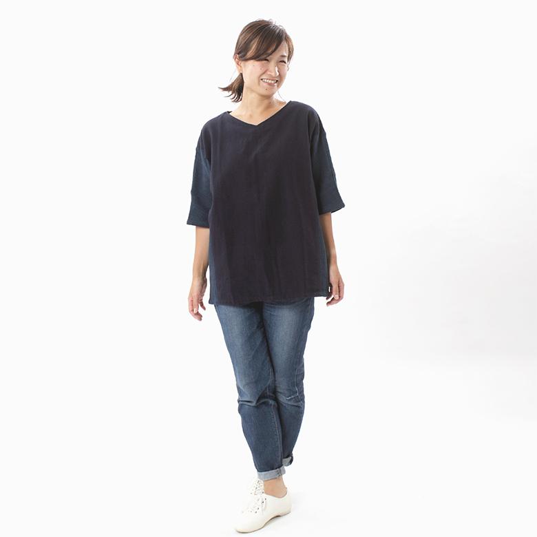 モーハウスの授乳服ララ(ワンピース)モデル写真1