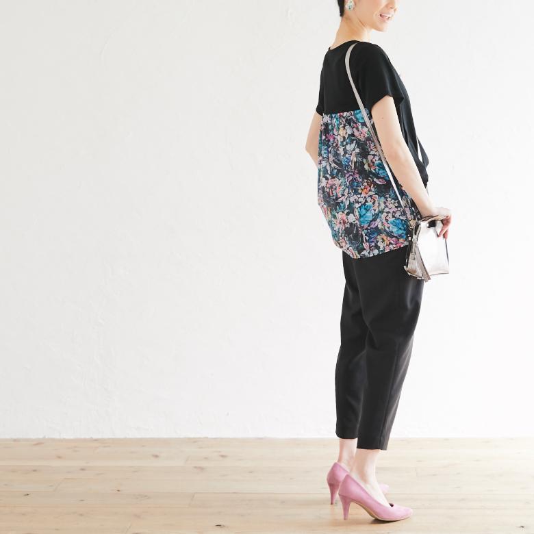 授乳服フローラルモデル写真2