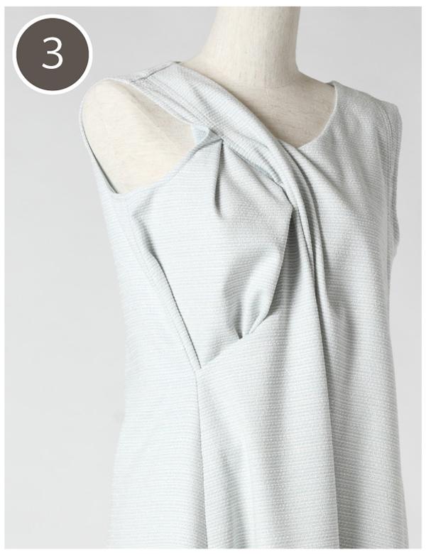 モーハウスのフォーマル授乳服の授乳口の使い方3
