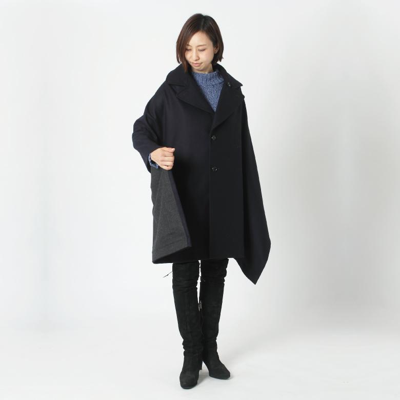 モーハウスのショール型ママコート衿ショール・シンプルモッサモデル写真1