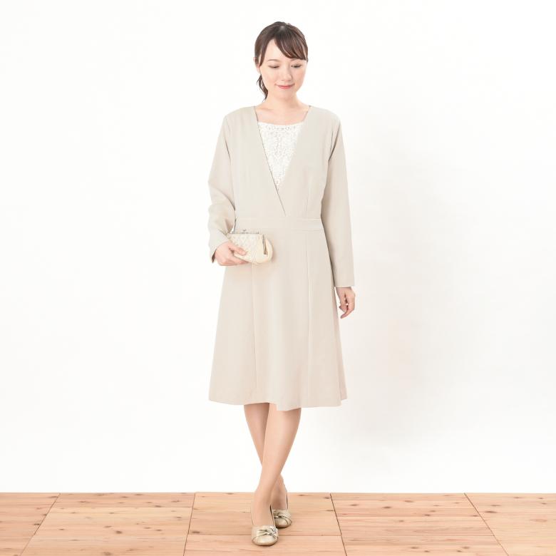モーハウスのフォーマル授乳服クラシカルレースモデル写真1