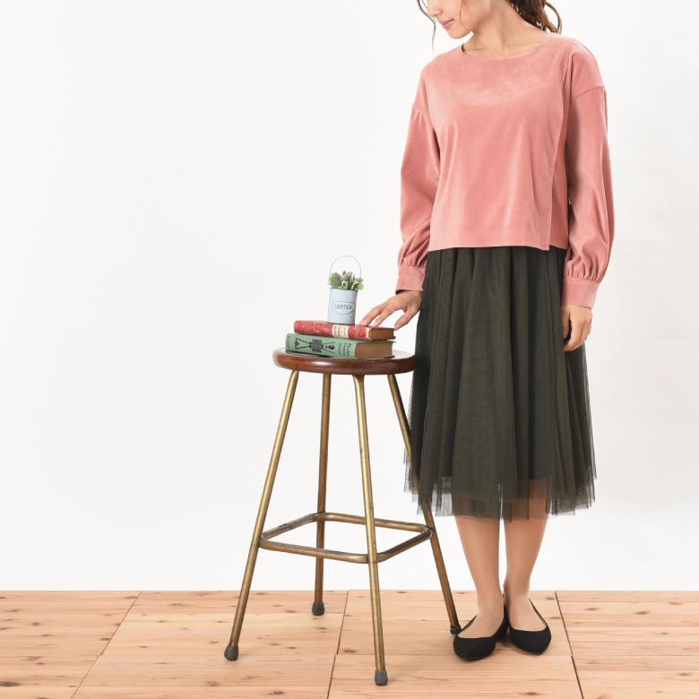 授乳服テラコッタモデル写真2