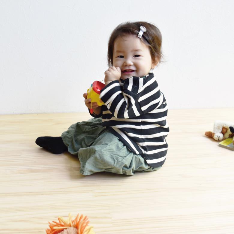 親子リンクコーデアイテムバスクシャツ・ミニモデル写真1