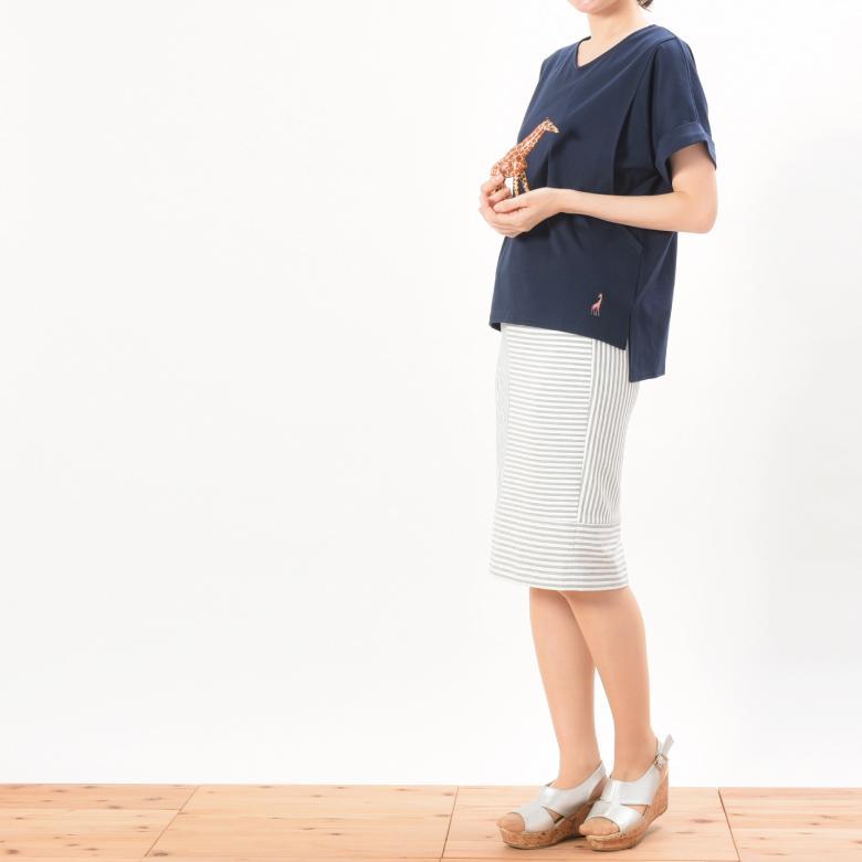 モーハウスの授乳服プレーリーVネックモデル写真2