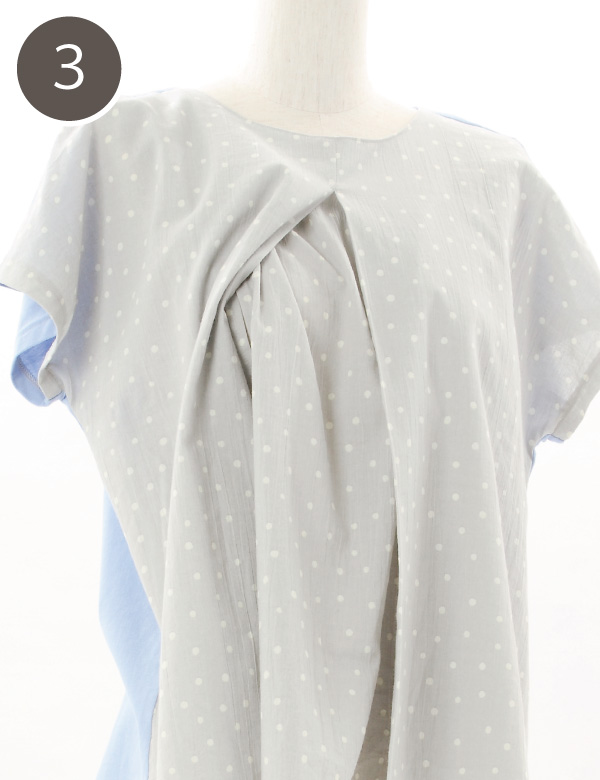 モーハウスの授乳服の授乳口の使い方3