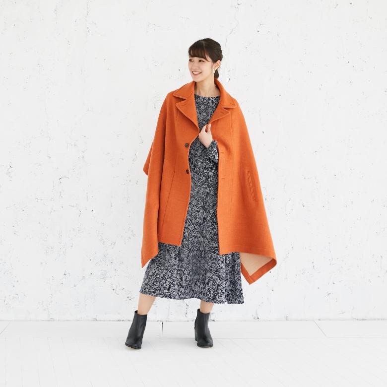 モーハウスのショール型ママコート衿ショール・ダブルフェイス写真1