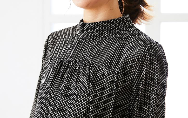 授乳服Geometric(ジオメトリック)ブラウスモデル写真2