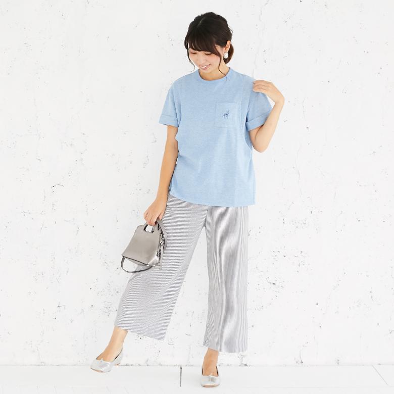 授乳服プレーリーオーガニックTモデル写真1