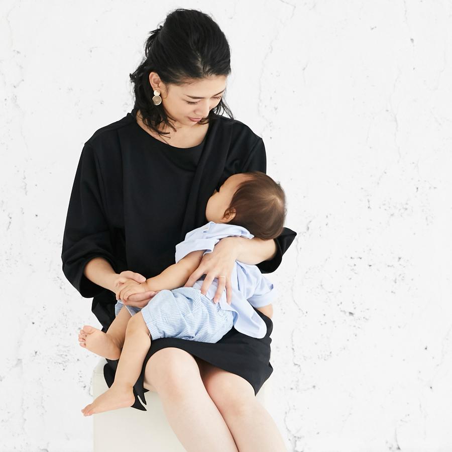 フォーマル 授乳服 バックリボンワンピースコーデ写真2