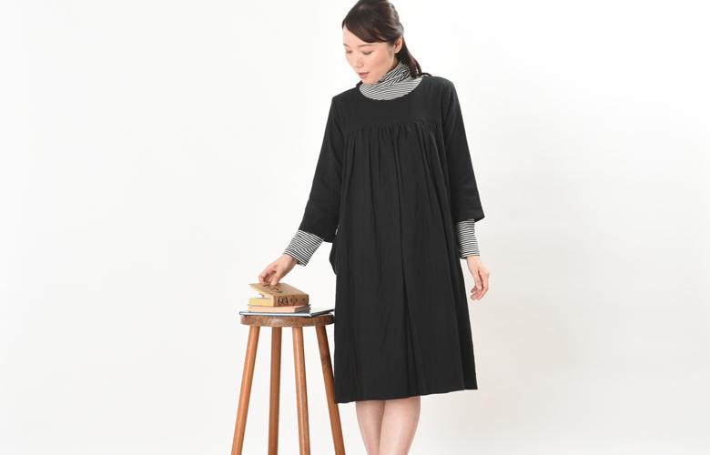 授乳服:シルフィード、授乳インナー:ボーダータートルインナーのコーディネイト