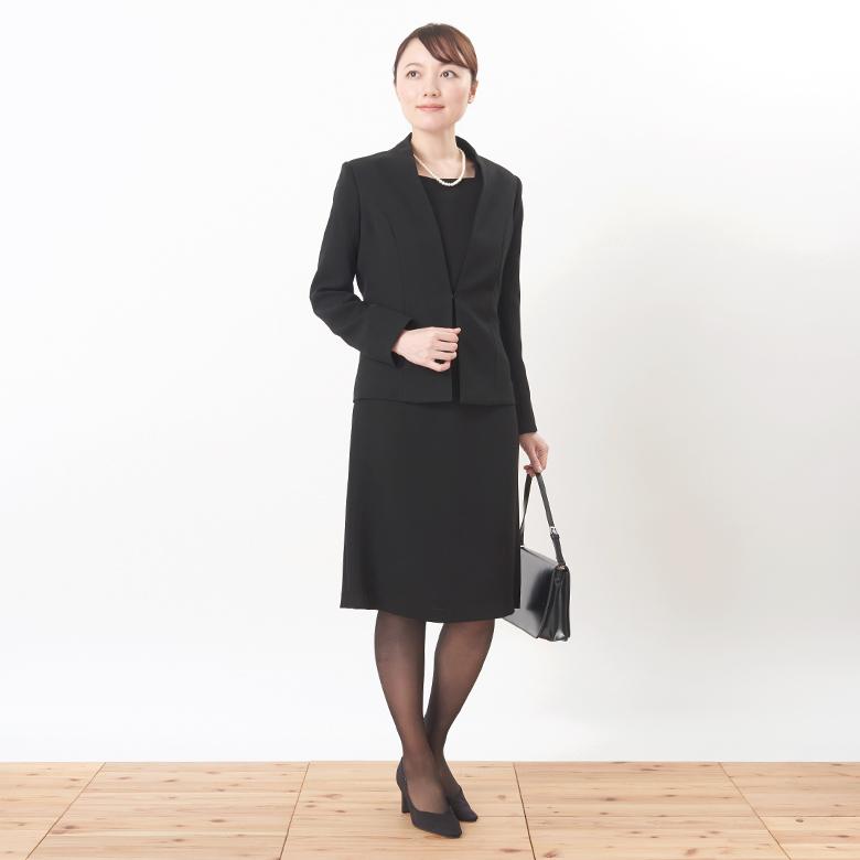 ブラックフォーマルジャケットモデル写真1