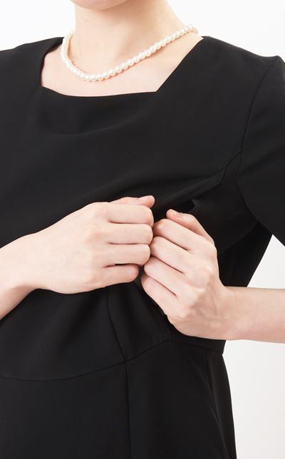 フォーマル授乳服授乳口画像