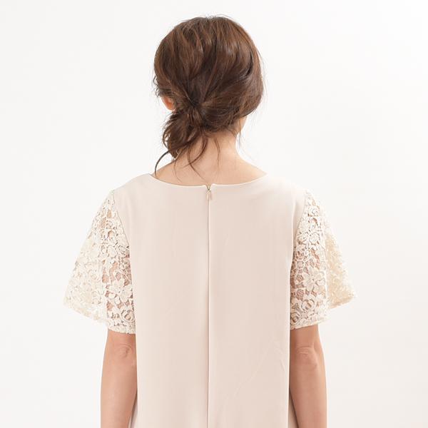 モーハウスのフォーマル授乳服のディテールポイント:後ろファスナーで着脱楽々