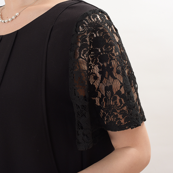 モーハウスのフォーマル授乳服のディテールポイント:コンプレックスをカバー