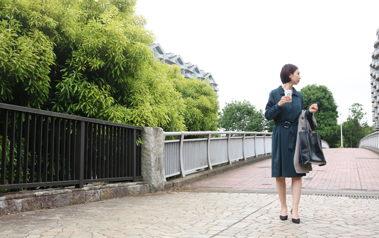 授乳服リブレモデル写真1