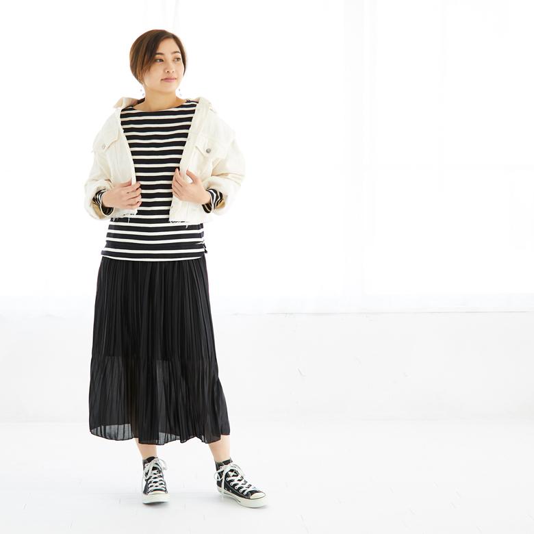 モーハウスの授乳服バスクシャツモデル写真2