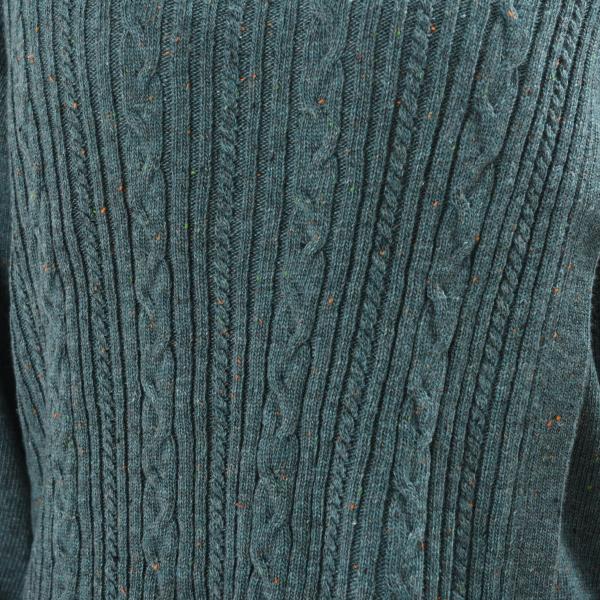 授乳服ディテールポイント:表面のケーブル模様