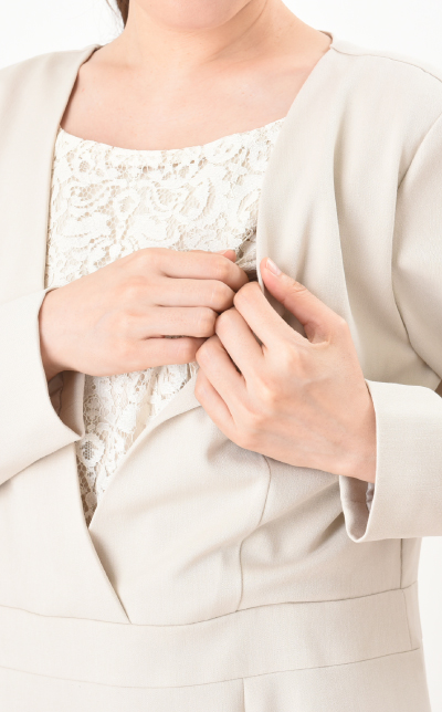 モーハウスのフォーマル授乳服の授乳口画像