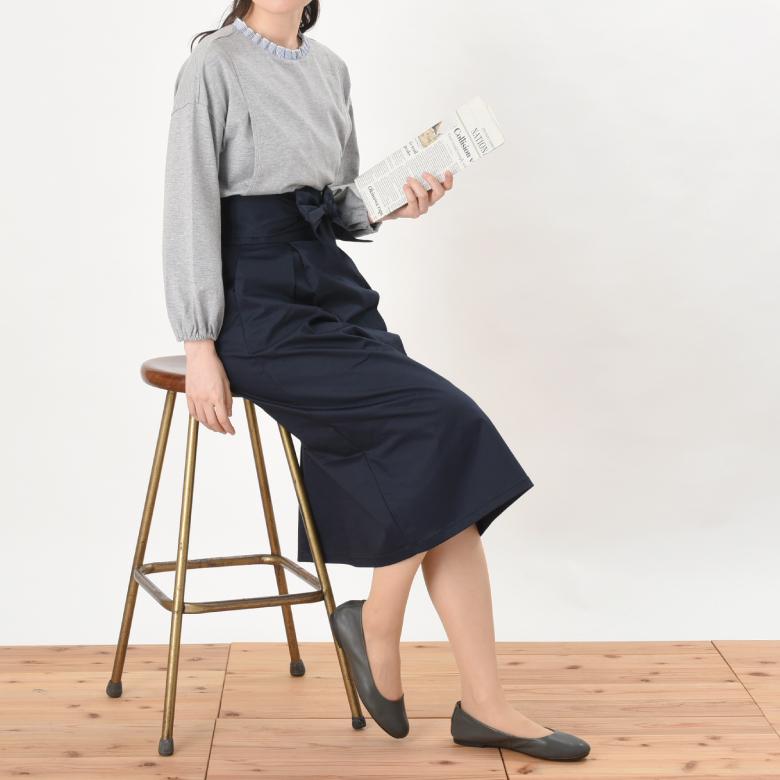 モーハウスの授乳服プチストライプモデル写真2