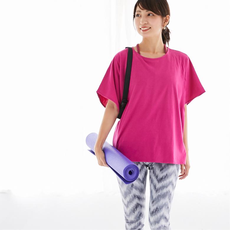 授乳服ゆったりシルエットTモデル写真2