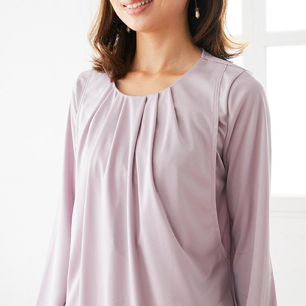 授乳服のディテールポイント:フロントタック