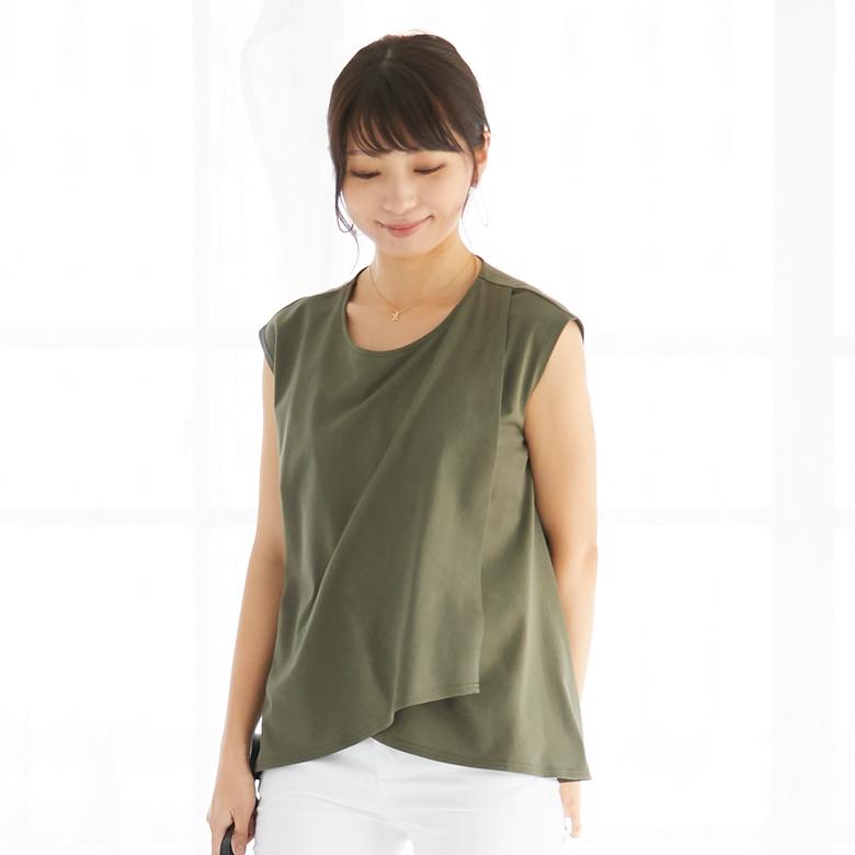 モーハウスの授乳服フレンチレイヤーTモデル写真1