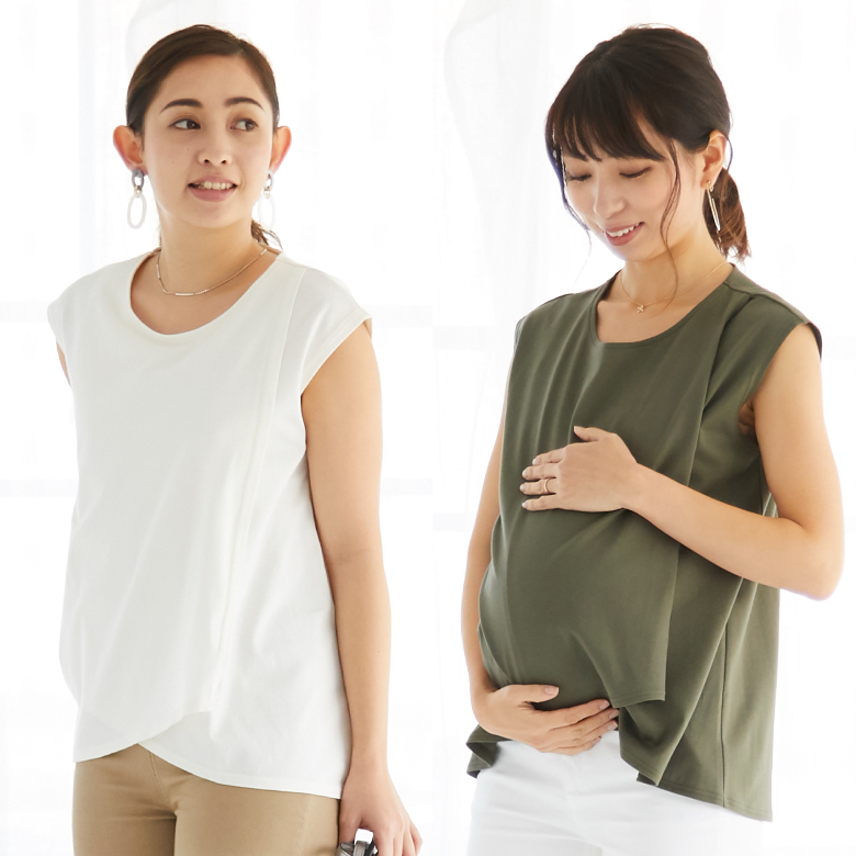 モーハウスの授乳服フレンチレイヤーTモデル写真2