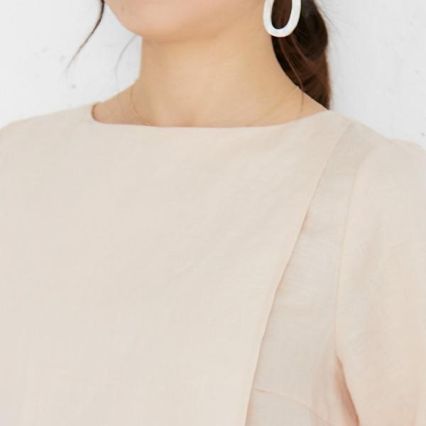 モーハウスの授乳服のディテールポイント1デコルテの露出が少ないネックライン
