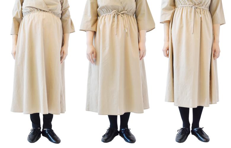 モーハウスの授乳服バックプリントTワンピース生地アップ