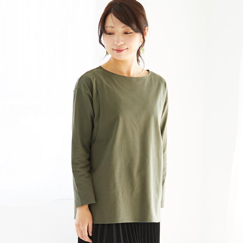 モーハウスの授乳服CARINO ベーシックT(長袖)モデル写真1