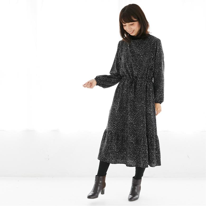 モーハウスの授乳服ティアードワンピースモデル写真2