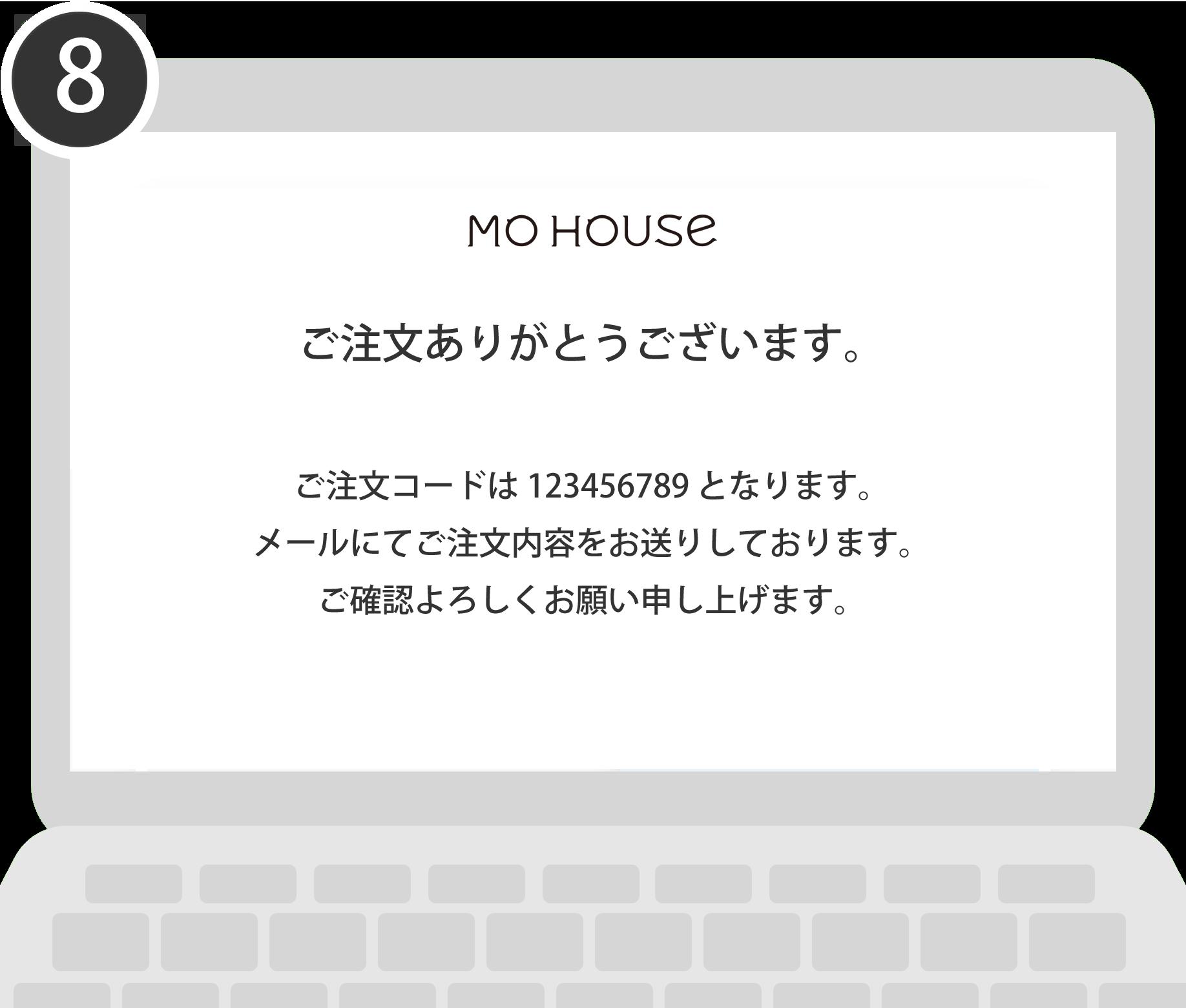 モーハウス注文完了