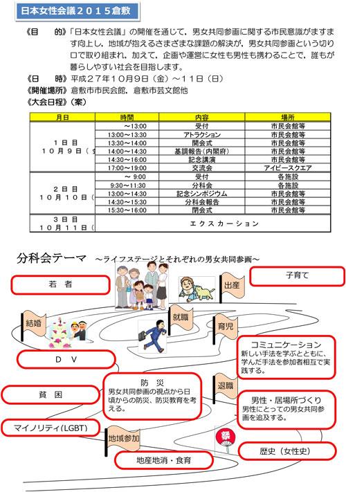 日本女性会議2015倉敷チラシ2