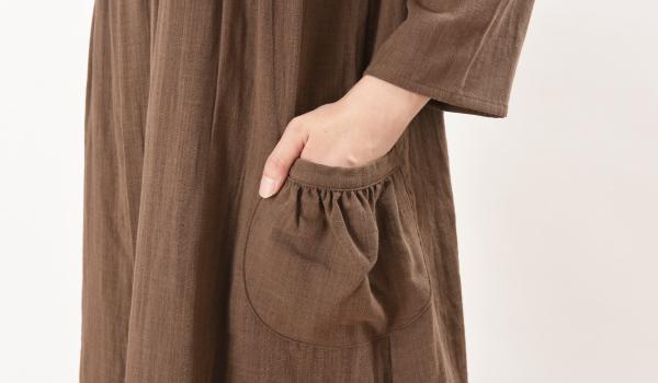 授乳服 シルフィード ブラウン ポケット