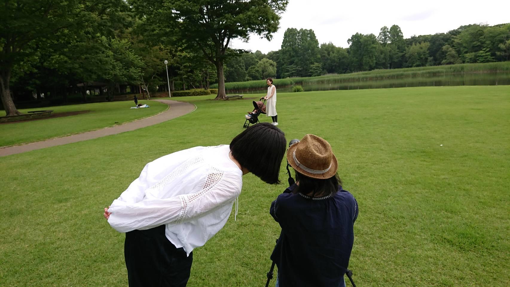 トコトコ 授乳服 撮影風景