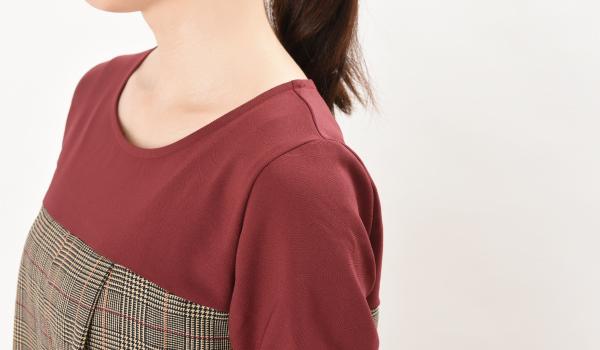 授乳服 CHACO(チャコ) ワンピース セットインスリーブ