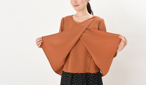 授乳服 ピュアミール 三枚構造のレイヤータイプ