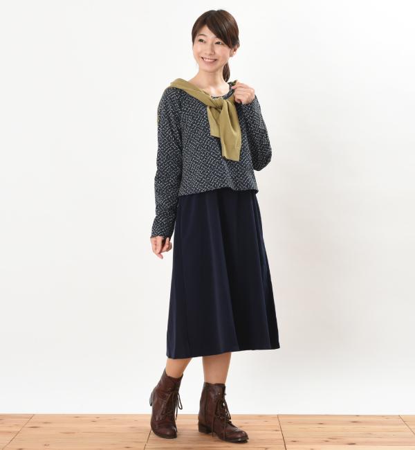 授乳服 ARARE(あられ) ワンピース ネイビー