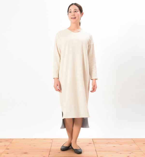 デイリーワンピ 綿100% 授乳服 マタニティ 妊婦 授乳 ワンピース ナチュラル
