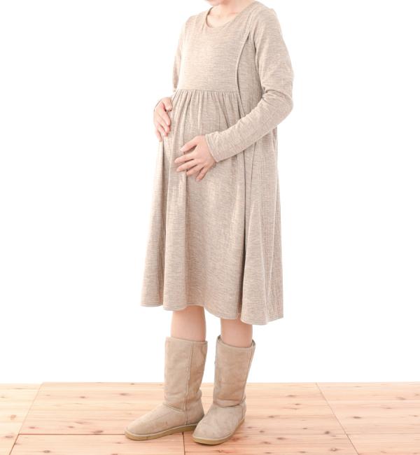 サテンドール 授乳服 サイドスリットタイプ 授乳 セール マタニティ
