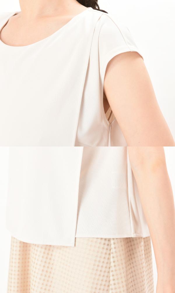 フネートル アイボリー 授乳服 レイヤータイプ セットアップ