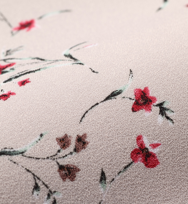 クラール ピンク 授乳服 センターオープン ビンテージ小花柄 フレンチスリーブ