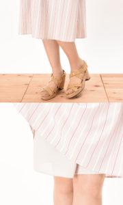 クーランデール 授乳服 ワンピース カシュクール マタニティ兼用 グレージュ 長め丈で安心