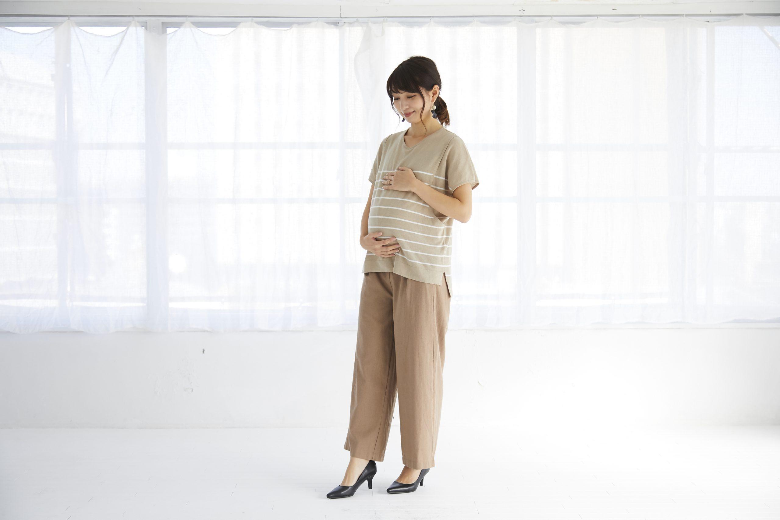 授乳服 授乳 母乳 半袖 サイドスリット、ボーダー コットン100